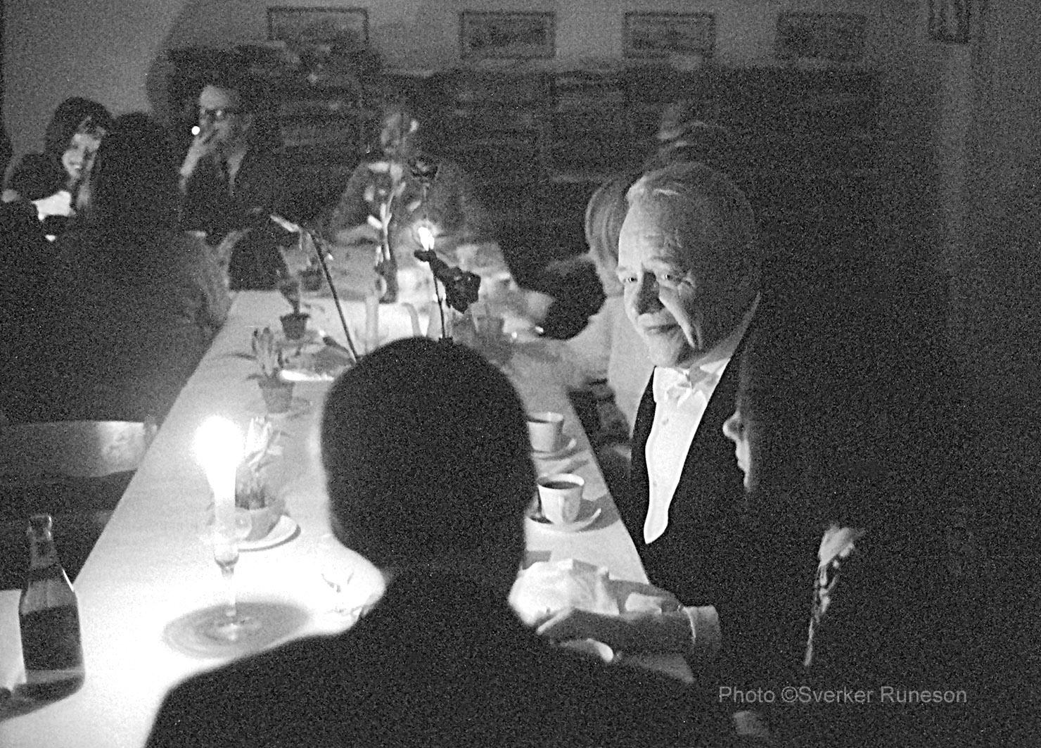 Västgöta Nation, Kinnekullerummet. Sexa efter Nationssammankomst 12/12 1967. T.h. Ingemar Hedenius, inspektor.