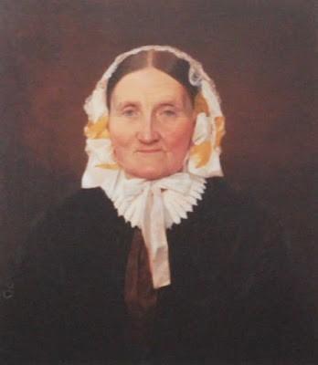 Prostinnan Sara Wennerberg, f. Klingstedt (1786 - 1875), målning av Brynolf Wennerberg d ä, ca 1850