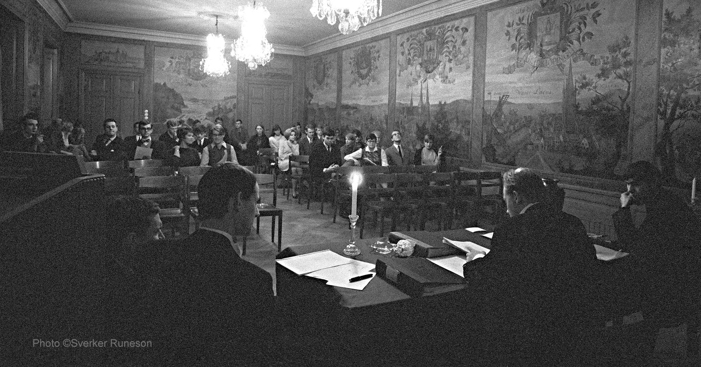 Västgöta Nation: Nationssammankomst, 12 december 1967.